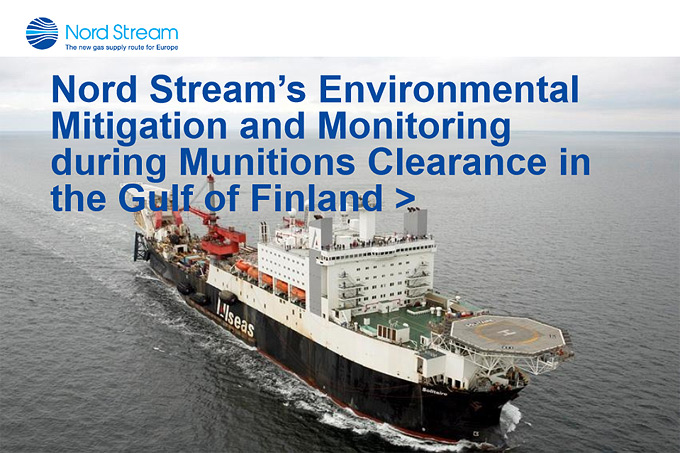 MIREMAR Presentation Tiina Salonen: Nord Stream's Environmental Mitigation and Monitoring During Munitions Clearance in the Gulf of Finland